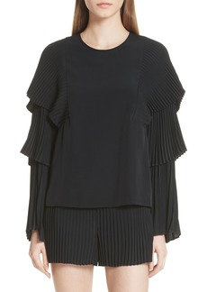 A.L.C. Perabo Pleated Top