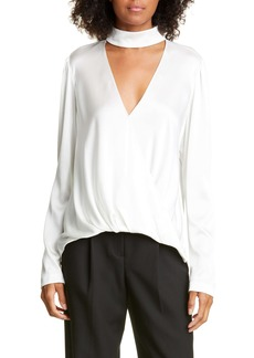 A.L.C. Raquel Cutout Stretch Silk Satin Top