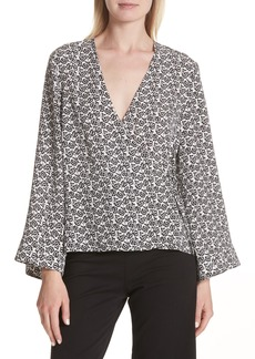 A.L.C. Ray Bell Sleeve Wrap Top