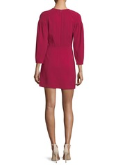 A.L.C. Renton Crewneck Pouf-Sleeve Short Dress