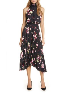A.L.C. Renzo Floral Pleated Midi Dress