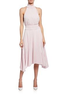 A.L.C. Renzo B High-Neck Pleated Midi Dress