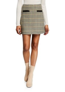 A.L.C. Reynolds Check Short Skirt