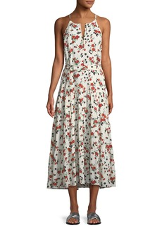 A.L.C. Richards Floral-Print Silk Midi Dress