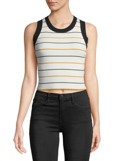 A.L.C. Rita Striped Ribbed Crop Top