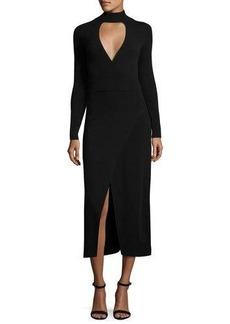 A.L.C. Rojo Long-Sleeve Ponte Midi Dress