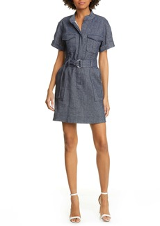 A.L.C. Romi Stretch Linen & Cotton Shirtdress