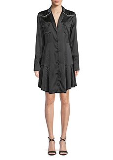 A.L.C. Rora Silk Button-Front Shirtdress
