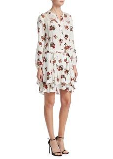 A.L.C. Rori Floral Silk Mini Dress