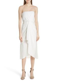 A.L.C. Roya Twist Waist Strapless Dress