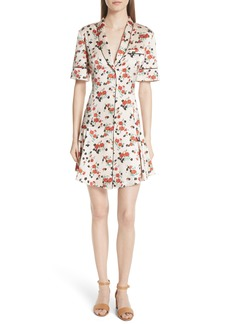 A.L.C. Ruthie Floral Print Stretch Silk Dress