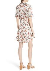 A.L.C. Ruthie Floral Print Stretch Silk Dress
