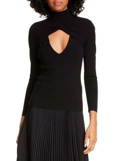 A.L.C. Sam Turtleneck Cutout Top