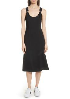 A.L.C. Sander Buckle Strap Midi Dress