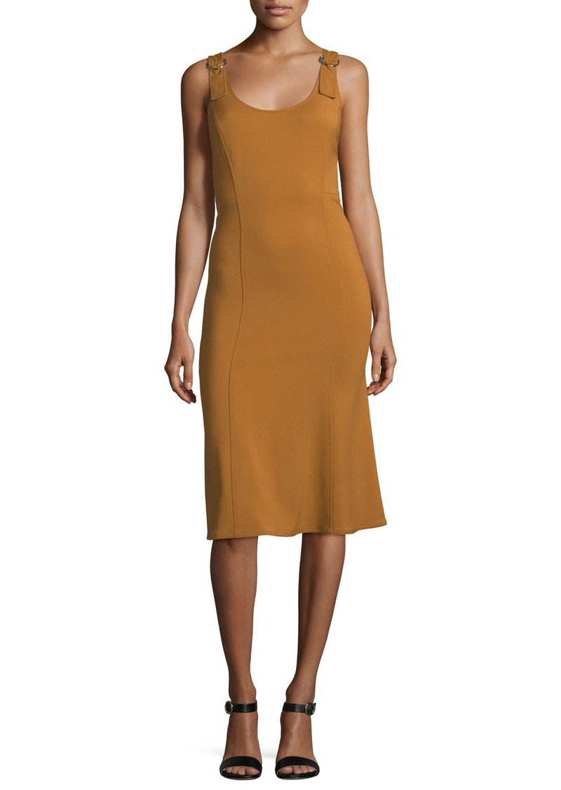 A.L.C. Sander Scoop-Neck Sleeveless Fitted Midi Dress