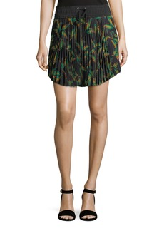 A.L.C. Scout Pleated Printed Mini Skirt