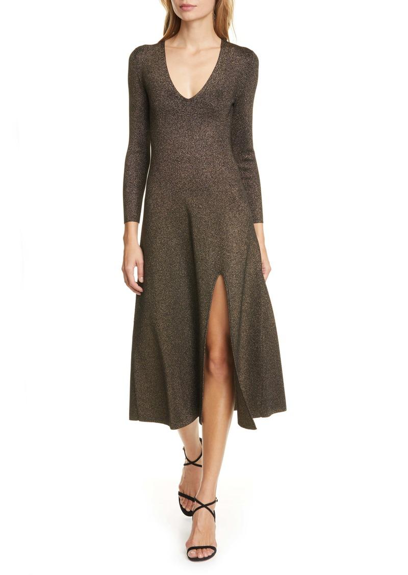 A.L.C. Serafina Metallic Knit Midi Dress