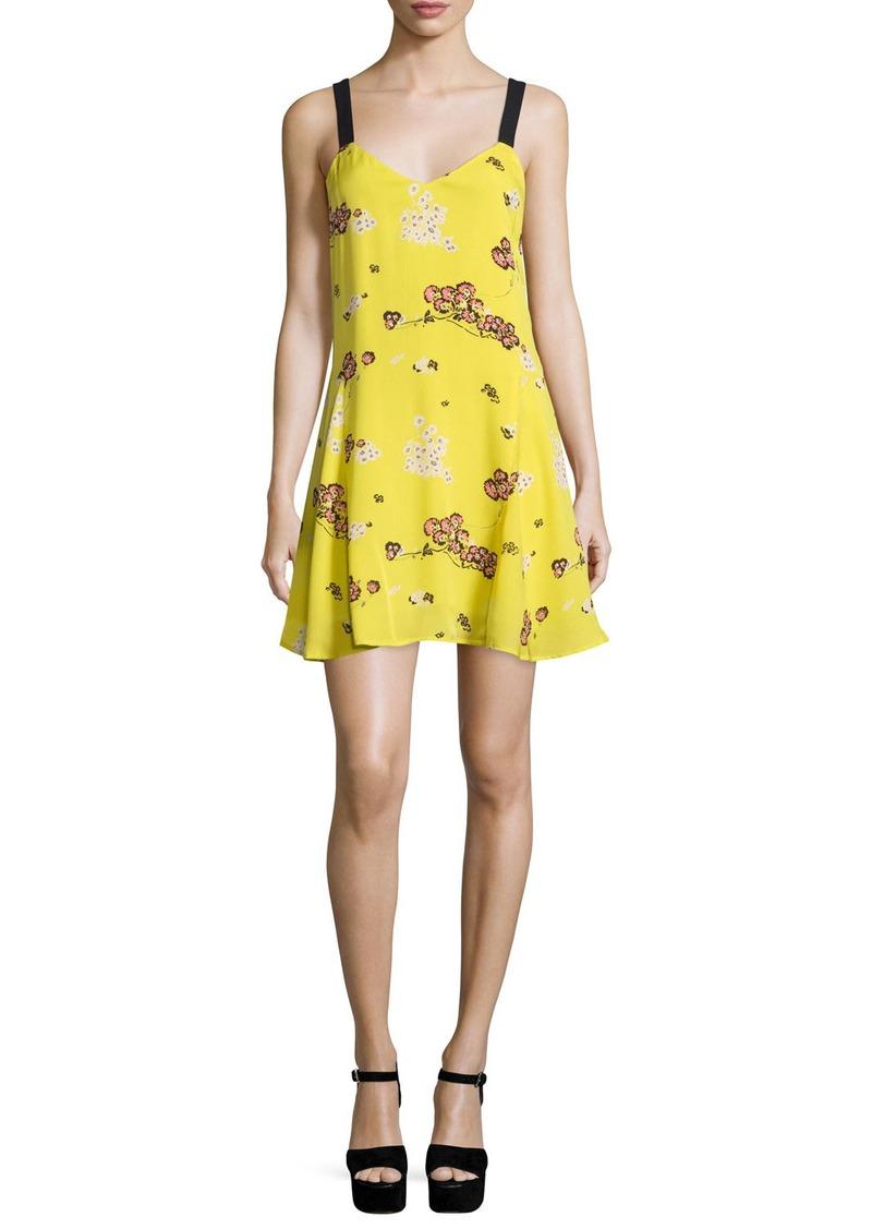 A.L.C. Serena Sleeveless Floral Silk A-Line Dress