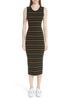 A.L.C. Shane Stripe Knit Midi Dress