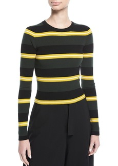 A.L.C. Shea Crewneck Striped Knit Sweater