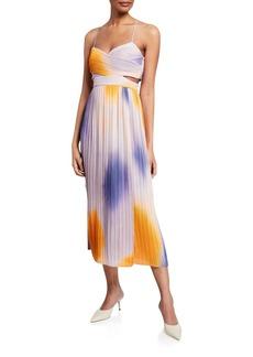 A.L.C. Sienna Pleated Midi Dress