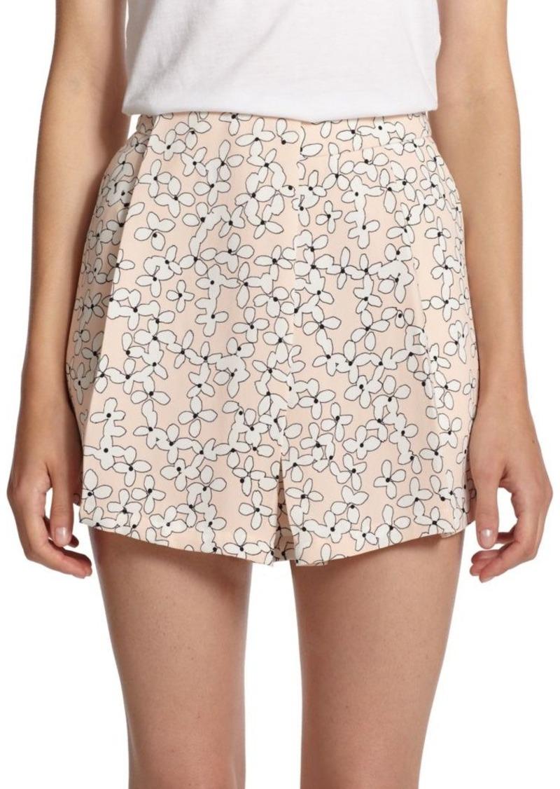 A.L.C. Silk Floral-Print Shorts