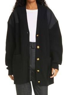 A.L.C. Smith Patch Shoulder Cardigan