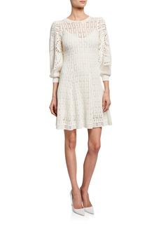 A.L.C. Sofia Knit 3/4-Sleeve Dress