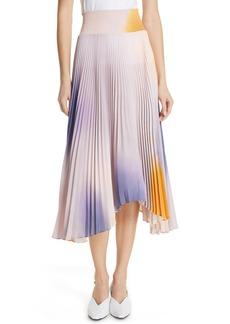 A.L.C. Sonali Dip Dye Shark Bite Hem Skirt
