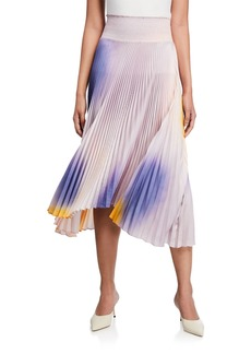 A.L.C. Sonali Pleated Asymmetrical Midi Skirt