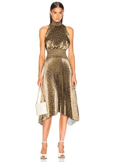 A.L.C. Spotted Leopard Foil Renzo Dress