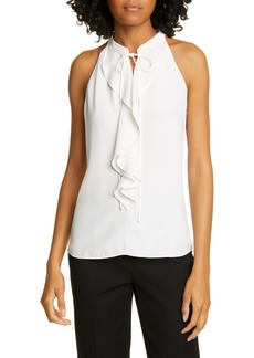 A.L.C. Steele Ruffle Front Silk Top