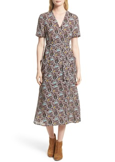 A.L.C. Stephanie Print Silk Wrap Dress (Nordstrom Exclusive)