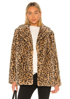 A.L.C. Stone Faux Fur Coat