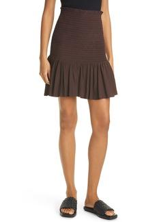 A.L.C. Taryn Smocked Miniskirt
