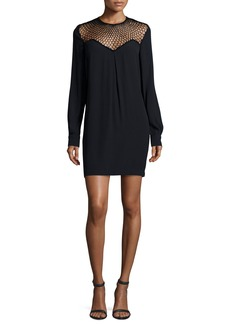 A.L.C. Tate Mesh-Trim Shift Dress