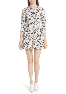 A.L.C. Terry Print Silk Minidress