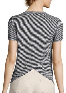 A.L.C. Tesi Striped Linen Tee