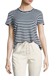 A.L.C. Tesi Striped Linen Tee  Black/White