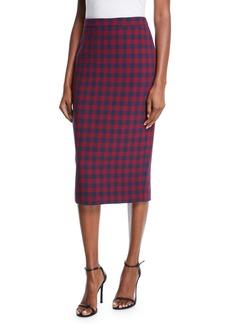 A.L.C. Thea Plaid Midi-Length Pencil Skirt
