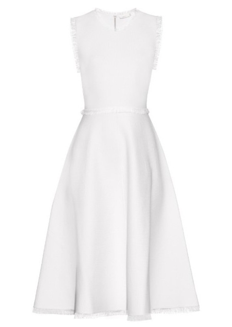 A.L.C. Theresa frayed jersey dress