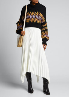 A.L.C. Tracey Intarsia Turtleneck Sweater