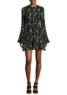 A.L.C. Trixie Long-Sleeve Printed Silk Dress