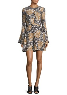 A.L.C. Trixie Print Bell Dress