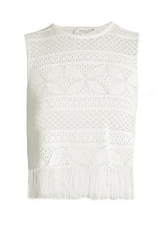 A.L.C. Tucker floral-lace top