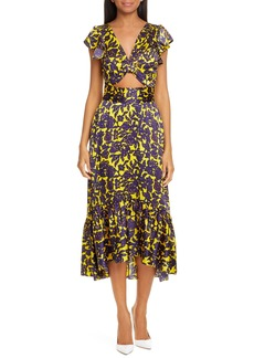 A.L.C. Valencia Silk Midi Dress