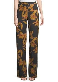 A.L.C. Vaughn Floral-Print Straight-Leg Pants