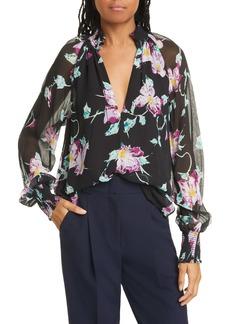 A.L.C. Venetia Floral Silk Blouse