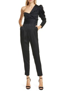 A.L.C. Walden One Shoulder Moiré Jumpsuit