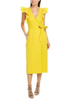 A.L.C. Walker Linen-Blend Wrap Dress